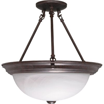 Semi Flush Mount Size: 15.5 H x 15.25 W