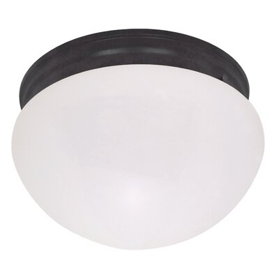 Yancy 2-Light Flush Mount Shade Color: Off White