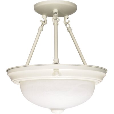 Semi Flush Mount Size: 12 H x 11.375 W