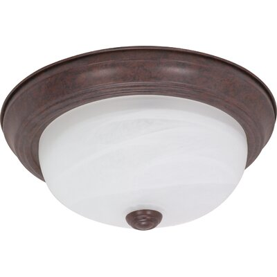 Simsbury Flush Mount Size / Energy Star: 4.875 H x 11.375 W x 11.375 D / Yes