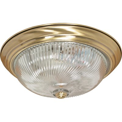 Flush Mount Size: 5.75 H x 15.25 W