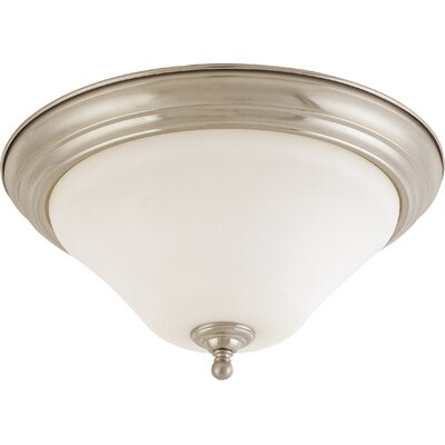 Yale 2-Light Flush Mount Size / Energy Star: 15 W x 7.75 H / No