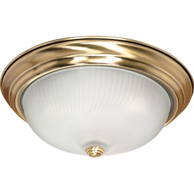 Flush Mount Size: 6 H x 15.25 W
