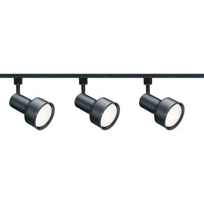 3-Light Full Track Lighting Kit Finish: Black