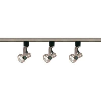 3-Light Full Track Lighting Kit Finish: Brushed Nickel