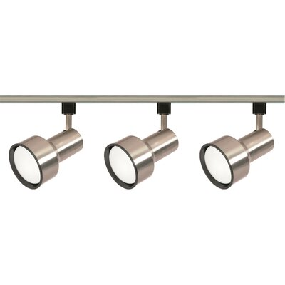 3-Light Full Track Lighting Kit Finish: Brushed Nickel