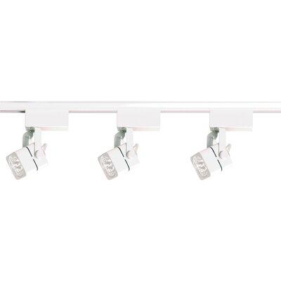 3-Light Low Voltage Square Full Track Lighting Kit