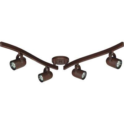 4-Light MR16 Swivel Full Track Lighting Kit