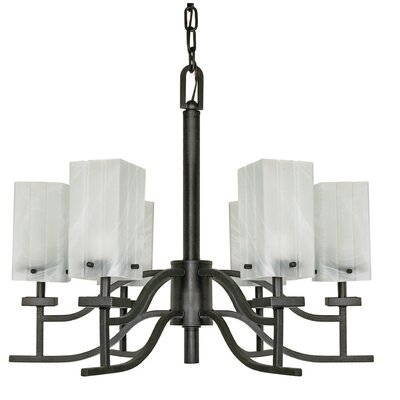 Cubica 6-Light Shaded Chandelier