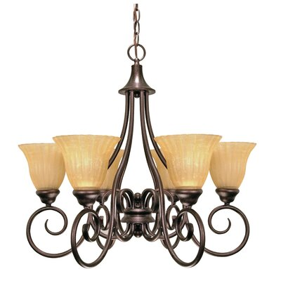 Marci 6-Light Shaded Chandelier Energy Star: Yes