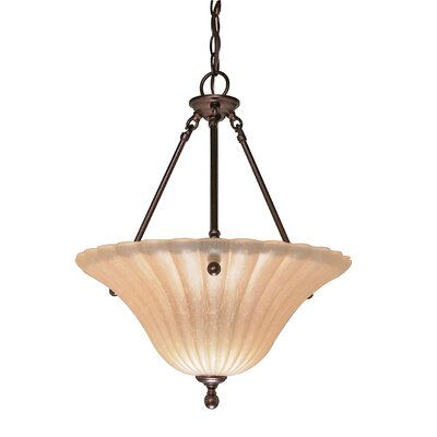 Moulan 3-Light Inverted Pendant Energy Star: Yes