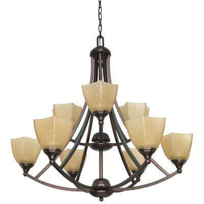 Cowen 9-Light Shaded Chandelier