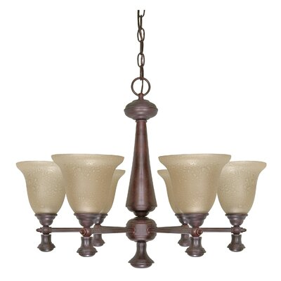 Mericana 6-Light Shaded Chandelier Energy Star: No