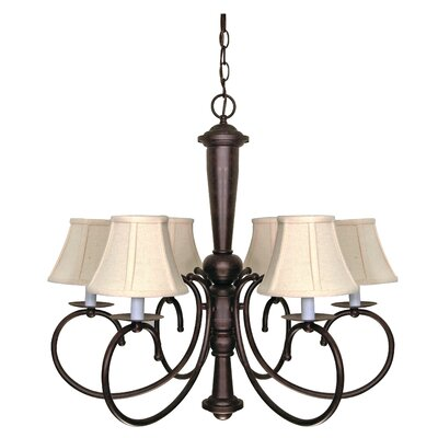Jami Traditional 6-Light Shaded Chandelier