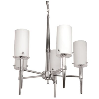 Jet 5-Light Shaded Chandelier Energy Star: No