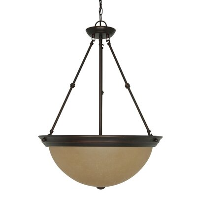 Deena 3-Light Inverted Pendant Size / Energy Star: 27.75 H x 20 W / No