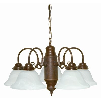 Cusick 5-Light Shaded Chandelier Finish: Old Bronze