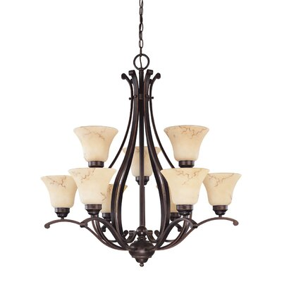 Neva 9-Light Shaded Chandelier