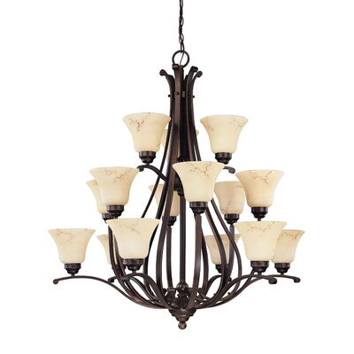 Anastasia 12-Light Shaded Chandelier