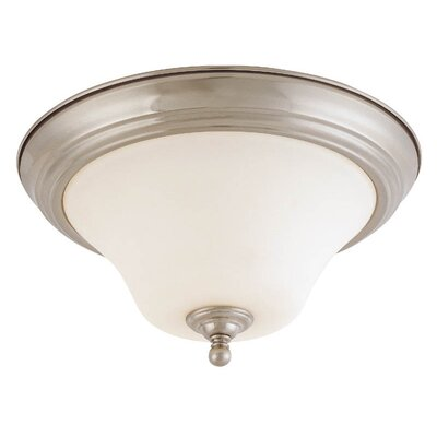 Dupont 2-Light Flush Mount Size / Energy Star: 13 W x 7 H / Yes