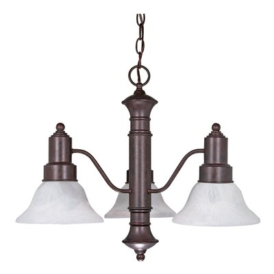 Mayhugh 3-Light Old Bronze Shaded Chandelier
