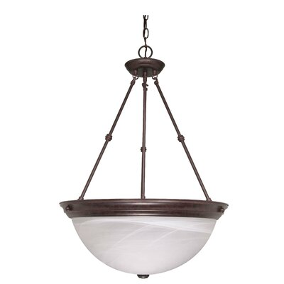 Clarewood 3-Light Inverted Pendant Size: 27.75 H x 20 W