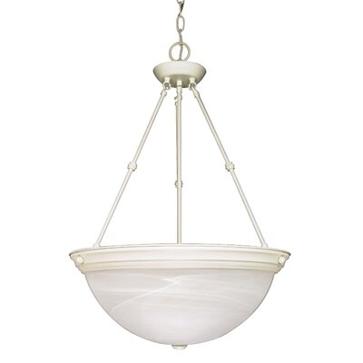 Caffey 3-Light Inverted Pendant Size / Energy Star: 23 H x 15 W, Finish: Textured White