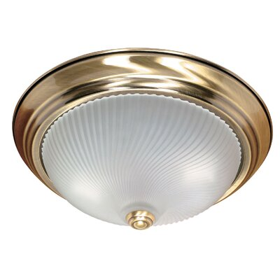 Jolly Flush Mount Size: 5.375 H x 13.125 W