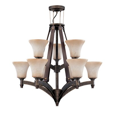Viceroy 9-Light Shaded Chandelier Energy Star: Yes