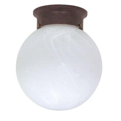 1-Light Ball Semi Flush Mount Size: 9.25 H x 8 W