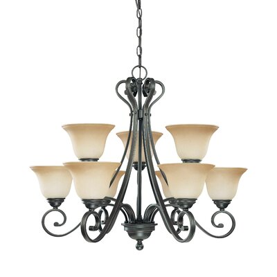 Montgomery 9-Light Shaded Chandelier
