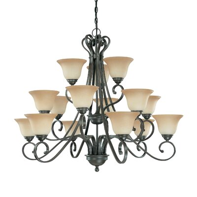 Montgomery 15-Light Shaded Chandelier