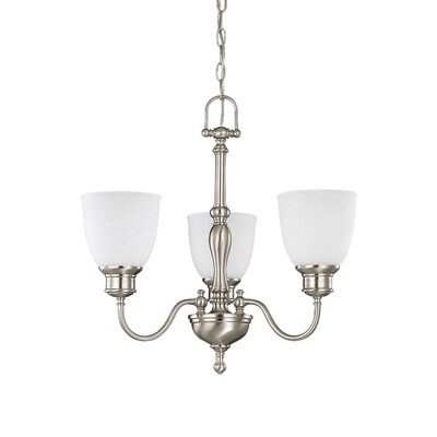 Bella 3-Light Shaded Chandelier