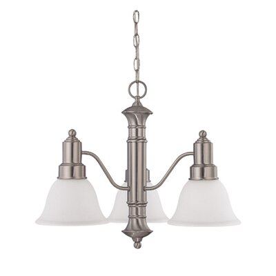 Gotham 3-Light Shaded Chandelier Energy Star: No