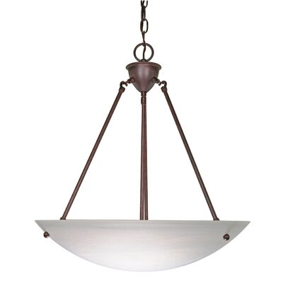 3-Light Bowl Inverted Pendant Finish: Old Bronze