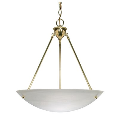 Melisa 3-Light Bowl Inverted Pendant Color: Polished Brass