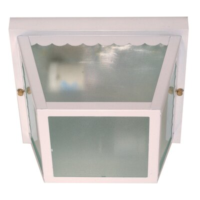 Carport 2-Light Flush Mount Finish: White