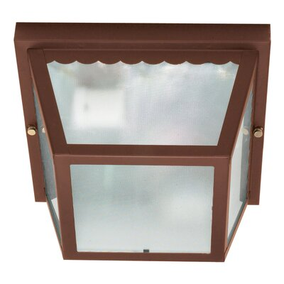 Carport 2-Light Flush Mount Finish: Old Bronze