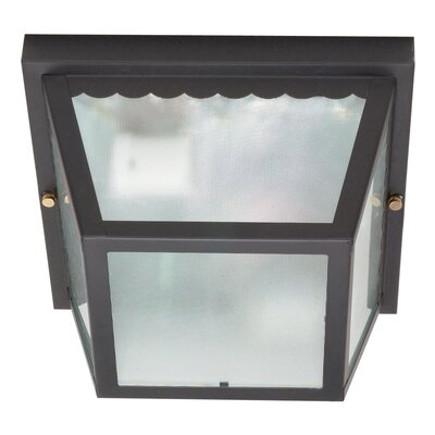 Carport 2-Light Flush Mount Finish: Black