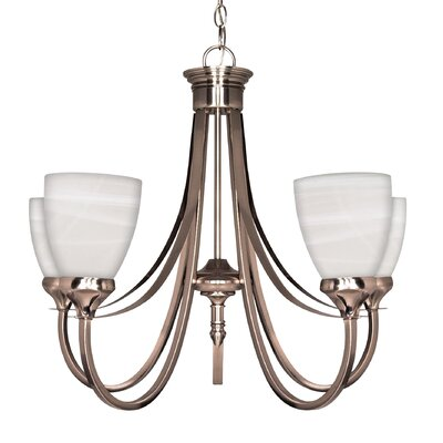 Yardley 5-Light Shaded Chandelier Energy Star: Yes