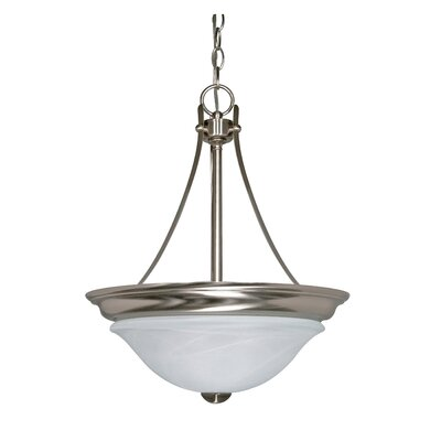 Triumph 2-Light Inverted Pendant Bulb Type: Fluorescent