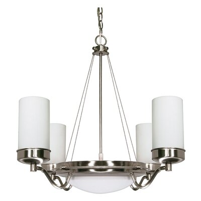 Nabors 6-Light Shaded Chandelier Energy Star: No