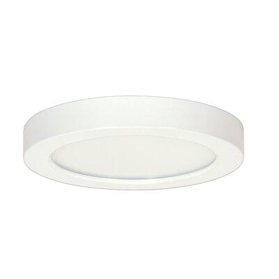 Weekes 1-Light Flush Mount Size: 1.57 H x 7 W x 7 D, Bulb Type: 13.5 W, Color Temperature: 5000