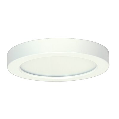Weekes 1-Light Flush Mount Size: 1.57 H x 9 W x 9 D, Bulb Type: 18.5 W, Color Temperature: 5000