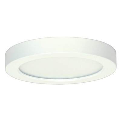 Arsneault 1-Light 3000K Flush Mount Size: 1.57 H x 12.01 W x 9.76 D