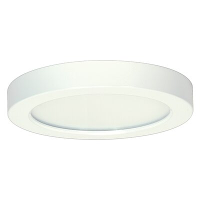Weehawken 1-Light 3000K Flush Mount Size: 1.57 H x 9.65 W x 7.4 D