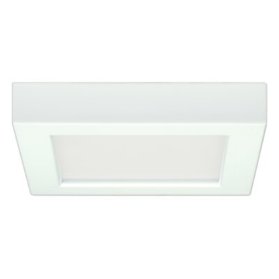 1-Light 3000K Flush Mount Size: 1.57 H x 8.27 W x 6.14 D
