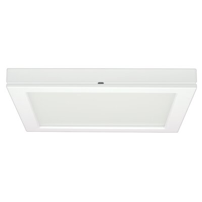 Milligan 1-Light 3000K Flush Mount Size: 1.57 H x 9 W x 9 D