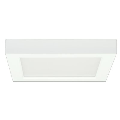 Castlehaven 1-Light Flush Mount Size: 1.57 H x 12.01 W x 6.76 D