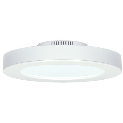 1-Light LED Flush Mount Bulb Color Temperature: 50000K